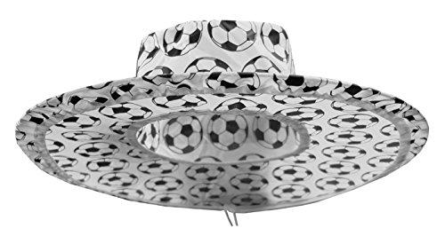 Kaltner Präsente Geschenkidee - 20 stuks zonnehoed hoed muts pet van nylon opvouwbaar in voetbaldesign ideaal voor carnaval outdoor zonwering regenbescherming WK wereldkampioenschap