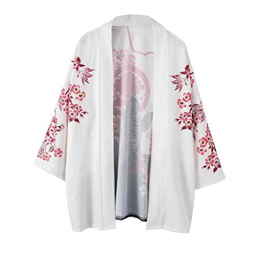 Kimono Cardigan für Herren/Skxinn Unisex Retro National Drucken Lose T-Shirt Kurz Robe Strickjacke Sommer Hemd Oberteil Weich Atmungsaktiv Bequem Kleidung Tops M-2XL Ausverkauf(Mehrfarbig-4,L2)