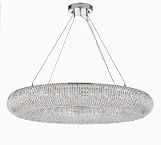 "Crystal Ring Chandelier Modern/Contemporary Lighting Floating Orb Chandelier 41"" Wide - Good for Dining Room, Foyer, Entryway, Family Room and More!"