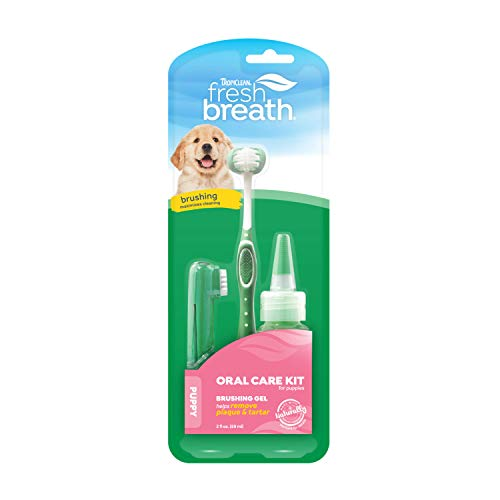 Fresh Breath by TropiClean Oral Care Kit for Puppies, 2oz, Made in USA