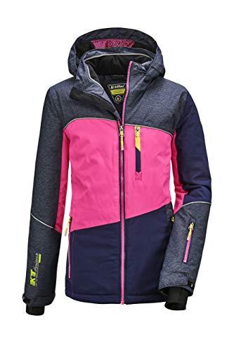 Killtec Mädchen Glenshee GRLS Ski Jckt D Funktionsjacke Mit Kapuze Und Schneefang, dunkel Denim, 152
