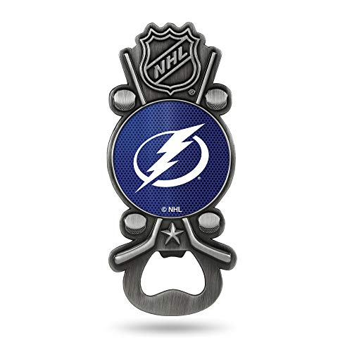 NHL Rico Industries Magnetic Metal Bottle Opener Party Starter Tampa Bay Lightning  225 x 5-inches