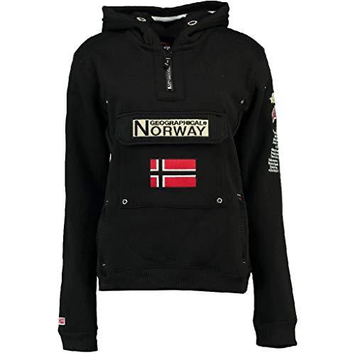 Geographical Norway Sudadera GYMCLASS DE NIÑO Y NIÑA Unisex Negro Talla 14