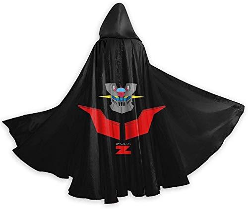 TIERA BENDER M-azi-nger Z L-o-go Unisex Adult Medium Halloween Capa Disfraz Capa Cape Cloak Vampire Magician Costume Accessories Props for Men Women Black