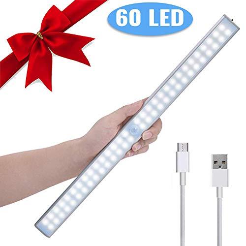 Kledingkast lampen kastverlichting LED kabinet nachtlicht lichtstrips spiegelkast LED sensor licht oplaadbaar kledingkastlicht auto aan/uit met stick-on magneetstrips