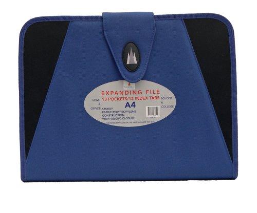 Cathedral - Portadocumenti, formato A4, in tessuto, colore: Blu