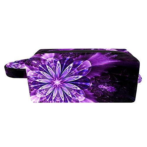 Bolsa de maquillaje de viaje/bolso de embrague/bolsa de cosméticos/bolsa de maquillaje/bolsa de tocador, flor tallada en madera
