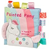 Taggies Touch & Feel Soft Cloth Book with Crinkle Paper & Squeaker, Paint Pony (40150)