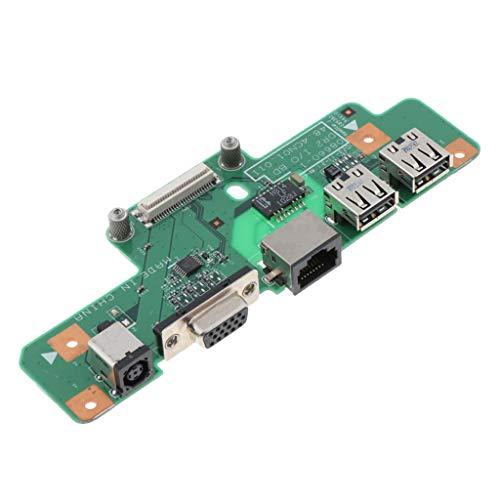 perfk DC Power Jack - Placa de Carga para DELL Inspiron, DC Jack Enchufe Conector, Hecho de Plástico