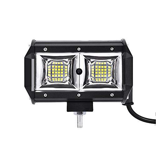 Faro da Lavoro Led, WZTO 5 Inch 96W Barra LED Fuoristrada 10000lm Faretto Faro Impermeabile IP67 Flood Luci da Lavoro per Moto Auto ATV SUV Trattore