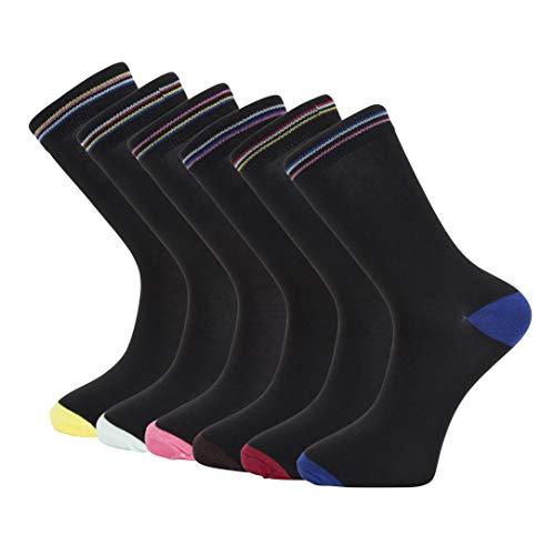 Heren HEEL & TOE MET RING TOP SOKEN Katoen Designer gemerkte Hoge Kwaliteit Heren Gekleurde Klassieke Sokken Met Geschenkdoos | Ideaal cadeau voor hem - 6 BETALINGEN