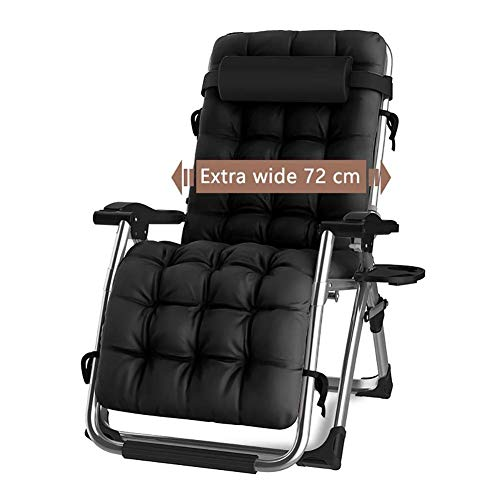 Portable Zero Gravity Chair Outdoor Patio Folding Rocking Chair for Family Lounge