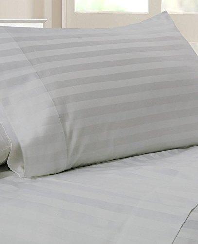 LaxLinens 650Juego de cama individual (algodón egipcio de 300hilos + 18pulgadas) extra...
