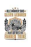 Trike Notizbuch: Trike Triker Biker Dreirad Trikefahrer Geschenk / 6x9 Zoll / 120 linierte Seiten Seiten