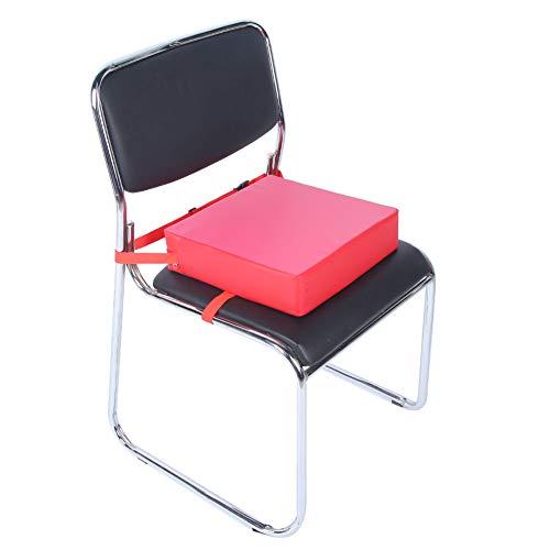 Cojín creciente para silla de bebé, silla de comedor ajustable para bebé extraíble Cojín elevador Cojín de asiento de silla de bebé portátil para niños(rojo)