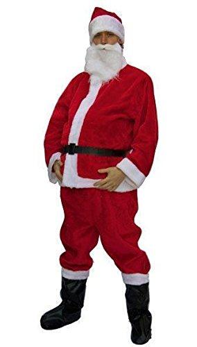 Costume babbo natale Include giacca pantalone copristivale guanti e barba . Non include parrucca