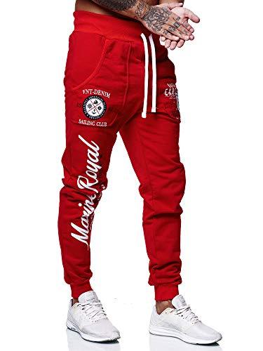 Code47 Herren Jogginghose Sporthose Männer Trainingshose Sweatpants 3628 Rot S