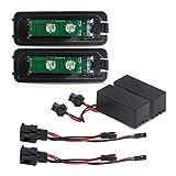 Kit de luces LED para matrícula, Compatible Con VW Golf 4 5 Passat Porsche Cayman Cayenne 911 Seat Altea Leon Skoda Superb, 12V 10W Canbus Sin Error, Impermeable IP67, Tamaño 77X28mm