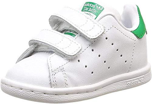 adidas Originals Unisex Kinder STAN SMITH CF I Lauflernschuhe, Weiß Grün, 21