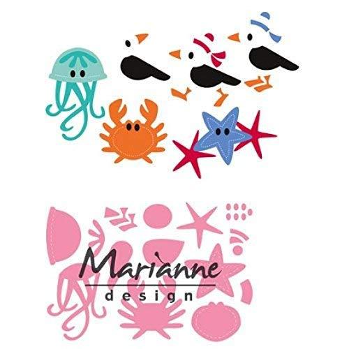 Marianne Design Collectables Fustelle Gabbiano e Amici, Metal, Pink, 21x15x3 cm
