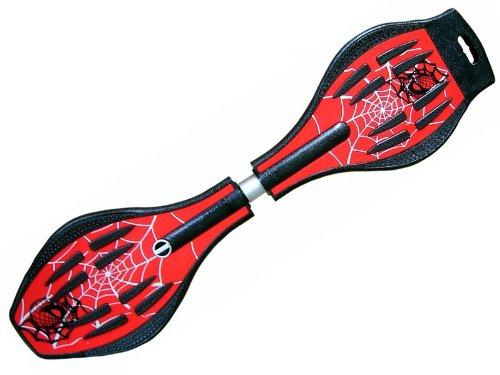 Waveboard Original MAXOfit XL PRO Spider RED mit LED Leuchtrollen und Tasche, bis 95 kg belastbar.