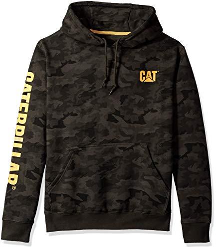 Caterpillar Men's Trademark Banner Hooded Sweatshirt (Regular and Big & Tall Sizes), Night camo, Medium