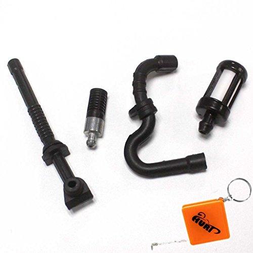 Huri Tubo dell'olio, filtro dell'olio e tubo della benzina, set di filtri compatibili con motoseghe Stihl 017018MS170MS180MS 170180