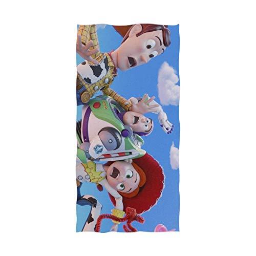 FETEAM Dibujos Animados Toy Story Toalla de baño Toalla de Playa Uso como Yoga Viajes Camping Gimnasio Toallas de Piscina en Carrito de Playa Sillas de Playa Talla única