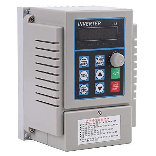 Inversor de variador VFD de 0.75kW, inversor de variador de frecuencia variable monofásico de 220V CA, inversor de controlador de velocidad VFD para motor monofásico