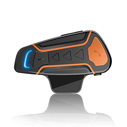 Intercomunicador Casco Moto Auriculares Bluetooth para Motocicleta, Montar a Caballo Esquí Deportes Aire Libre (1000m/ 3 Jinete/Bluetooth 3.0/ Manos Libres/Radio FM/Impermeabilidad)