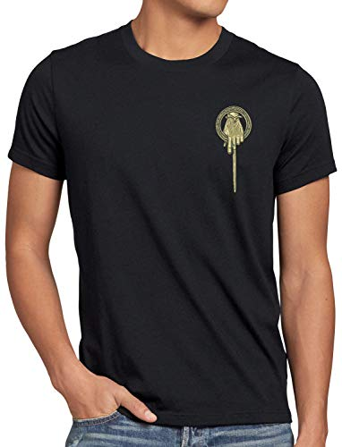 style3 Mano del Rey Camiseta para Hombre T-Shirt Tyrion Lannister Baratheon, Talla:XL, Color:Negro