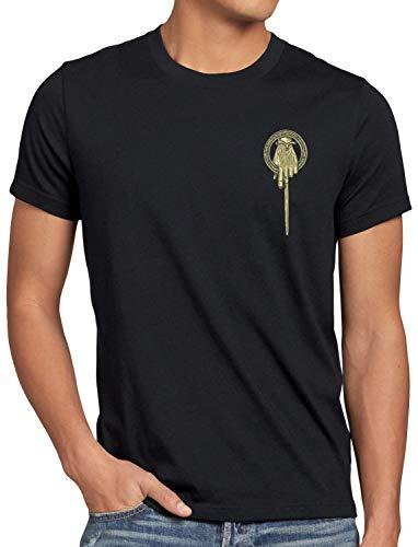 style3 Mano del Rey Camiseta para Hombre T-Shirt Tyrion Lannister Baratheon, Talla:XL, Color:Negro
