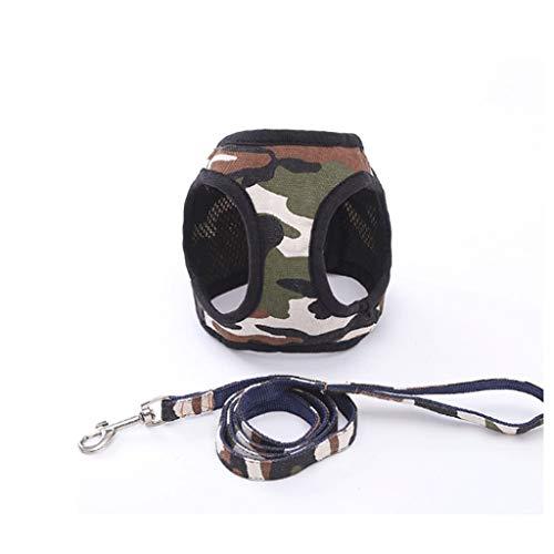 XYZMDJ 3 Estilos de pequeño arnés de Mascotas Cinturón de cinturón Chaleco Conjunto de cinturón Caminando Pet Moda Moda (Color : C, Size : Large)