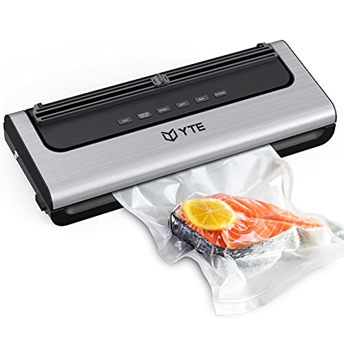 YTE Vacuum Sealer Machine, Automatic Food Saver with Dry & Moist Food Modes, Compact Design and Easy...