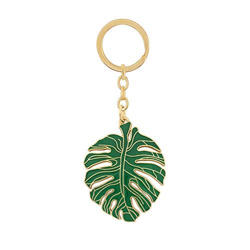 Dpsyszd Schlüsselbund DIY Blatt Keychain Anhänger grünes Blatt Tasche Zubehör (Color : Leaf)