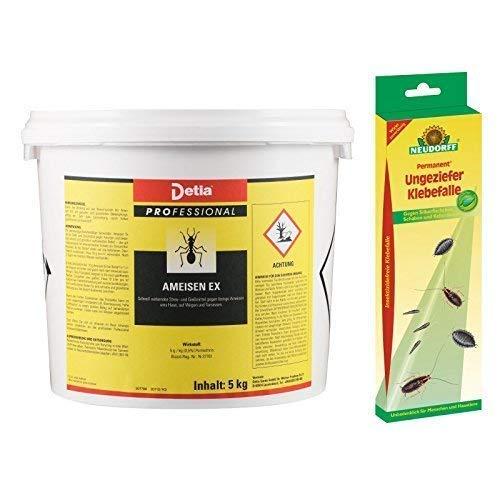 Detia - Ameisen-Ex Ameisenmittel - Inklusive Ungeziefer Klebefalle