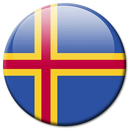 Kühlschrankmagnet Flagge Aland Magnet Länder Flaggen Reise Souvenir für Kühlschrank stark groß 50 mm