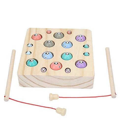 Magnetisch visspel voor kinderen Vispaalset Kinderen Educatief speelgoed Houten bordspellen(4-6 jaar oud)