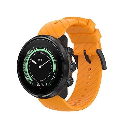 Gransho Correa de Reloj Recambios Correa Relojes Caucho Compatible con Suunto Spartan Sport Wrist HR / 9/9 Baro / 7 - Silicona Correa Reloj con Hebilla (Pattern 3)