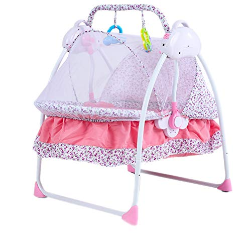 Amazing Deal Infant Bouncers Balance Electric Toddler Rocker Baby Cot Intelligent Automatic Folding ...