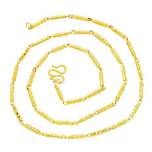 24 Karat Thai Gelbgold GP gefüllt Halskette Schmuck Schlüsselbein Kette Das Look & Feel von Solid Gold Rope Chain Goldkette für Männer & Frauen,1.5mm