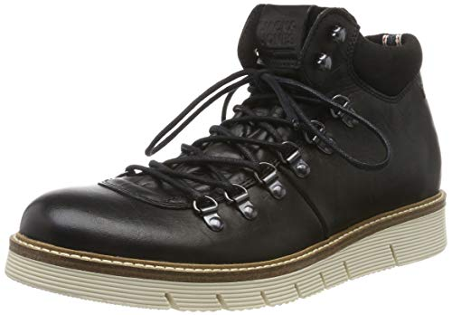JACK & JONES Herren JFWCOLUMBUS Leather Klassische Stiefel, Grau (Anthracite Anthracite), 44 EU