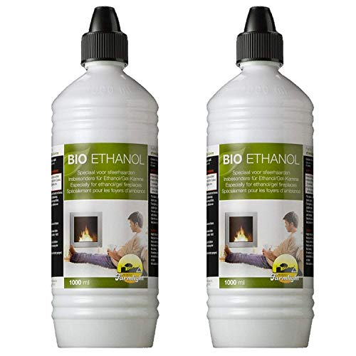 2 liter high-performance bio-ethanol in 1 liter flessen