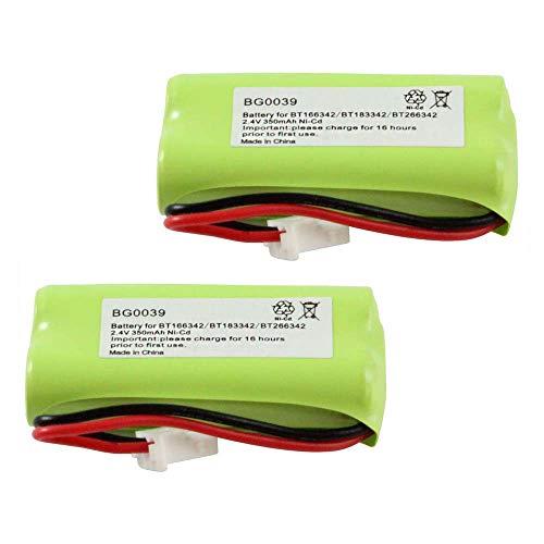 WalR Rechargeable Cordless Phone Battery Ni-CD, 2 Pack, for AT&T EL52100 EL5220 EL52200 EL52210 EL52250 EL52300 EL52350 EL52400 EL52450 EL52500 EL52510 TL30100 TL32100 TL32200 TL32300