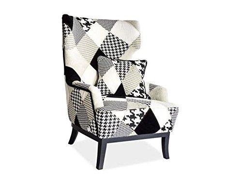 Jadella 'Poltrona design'Queen Patchwork Black & White