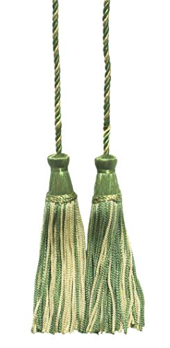 Mint Green, Egg Shell white Double Tassel / Tassel Tie with 10cm Tassels / Spread 74cm, Style# CDCT Color: Minty Frost - 2932