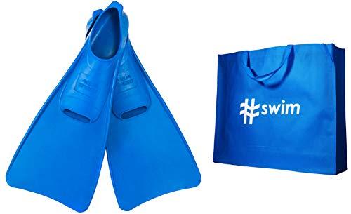 Aqua Speed Fusion Lange Schwimmflossen für Erwachsene und Kinder + ULTRAPOWER #Swim | Trainingsflossen | Schwimmtraining | Langflossen | Taucherflossen | 36/37 blau lang