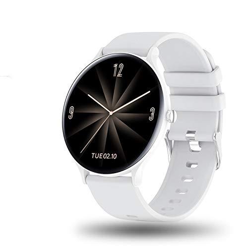 UIEMMY Reloj Inteligente con Pantalla táctil para Mujer, Pulsera Impermeable, monitorización del Ritmo cardíaco, monitorización del sueño, Reloj Inteligente, Blanco