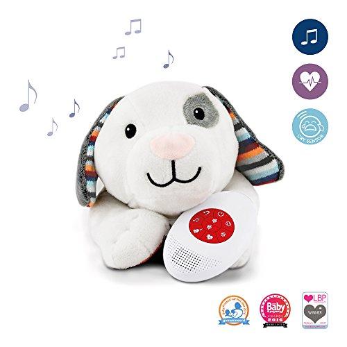 Zazu ZA-DEX-01 Perro de Juguete Gris, Color Blanco Juguete