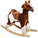 CP Toys Plush Rocking Horse with Realistic Sounds for Toddlers
